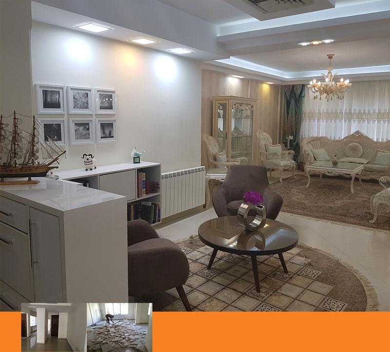 طراحی داخلی بازسازی منزل مسکونی - Reconstruction of a Residential House