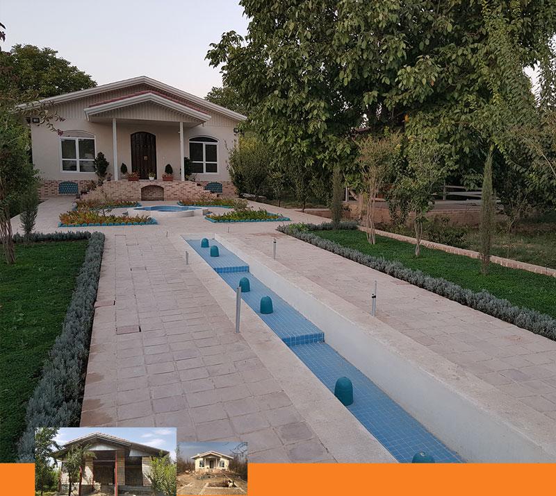 طراحی داخلی محوطه سازی ویلا - Villa landscaping